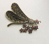 Vintage style Large Dragonfly brooch pin