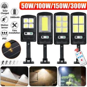 300W Solar PIR Motion Sensor Wall Light Outdoor Garden Street Security Lamp