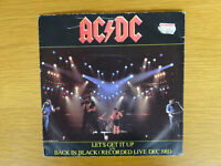 AC/DC 'LET'S GET IT UP' AND 'BACK IN BLACK (LIVE)' 7 INCH RECORD VINYL 1981