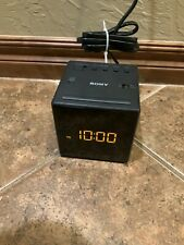 Sony ICF-C1 Dream Machine Alarm Clock AM/FM Radio BLACK -