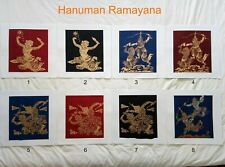 Art Silk Screen Picture Wall Home Decor Handmade Hanuman Ramayana #14