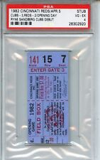 1982 Cincinnati Reds/Chicago Cubs Ticket Stub Sandberg Cubs Debut PSA Authentic