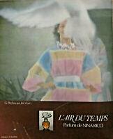PUBLICITÉ DE PRESSE 1973 - PARFUM L'AIR DU TEMPS DE NINA RICCI