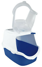 Trixie LARGE Vico Easy Clean Cat Litter Box Tray Lid, Flap & Filter Hooded Loo
