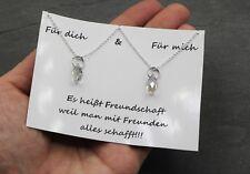 2x Freundschaftshalskette Kristall Tropfen Anhänger Kette Freundschaft Halskette
