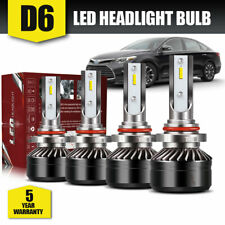 9005+9006 6000K 24000LM Combo 2-Side LED Headlight Kit High Low Lamps Bulbs DWH