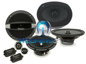 """pkg FOCAL PC690N 6""""X9"""" PERFORMANCE 240W SPEAKERS + R-165S2 6.5"""" 240W COMPONENT"""