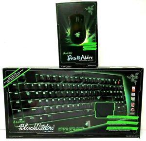 Razer Gaming Lot Black Widow Ultimate Keyboard & Death Adder Mouse