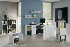Arbeitszimmer Büroeinrichtung Büromöbel Büro komplett LEXUS 7-tlg. in weiß