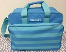 Tupperware Insulated Lunch Picnic Travel  Bag Light Blue 15 x 9 x 11 New