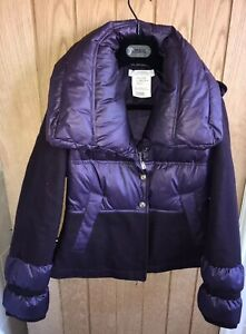 versace Womens Down Coat Purple Immaculate Condition Size 40 💖💖💖