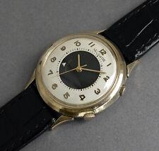 """JAEGER LECOULTRE 10K Gold Filled """"Bull's Eye"""" Memovox Wrist Alarm Watch 1964"""