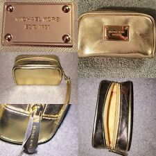 NEW Michael Kors Gold Clutch Bag Fulton Metallic - Sealed