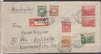 DF8111/ GERMANY SOVIET ZONE SACHSEN – MIXED FRANKING ON REGISTERED COVER
