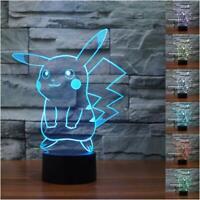 Pokemon Pikachu 3D LED Night Light 7 Colors - Touch Table Desk Lamp-USA SELLER