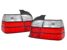 DEPO Euro Red/Clear Rear Tail Light Pair For 92-98 BMW E36 3 Series 4 Door Sedan