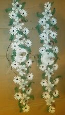 """PR VINTAGE ITALIAN COUNTRY FLORAL LEAVES WROUGHT IRON WALL SCONCES 40""""X 7"""" DECOR"""