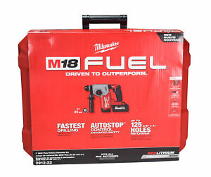 """Milwaukee 2912-22 M18 Fuel 18V 1"""" SDS Plus Rotary Hammer with Battery & Charger"""