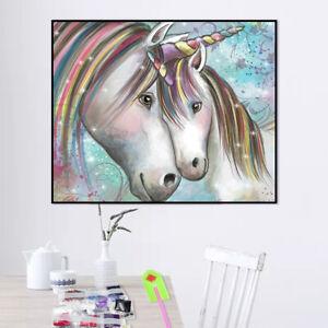 5D Diamond Painting Embroidery Cross Craft Stitch Diy Art Kit Home Decor Unicorn