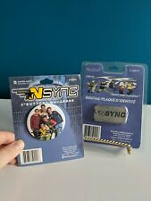 Nos Vintage *Nsync Button & Dogtag Nip New Official Merch 2000 Justin Timberlake