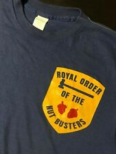 VTG 80s Royal Order Of The Nutbusters T-Shirt Hudson Valley New York Firefighter