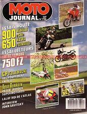 MOTO JOURNAL  798 Essai Road Test YAMAHA FZ 750 BENELLI 900 Sei KAWASAKI KLR 650
