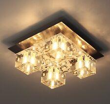 Plafonnier Design Moderne Lampe à suspension Lustre Luminaire Acier/Verre 9371