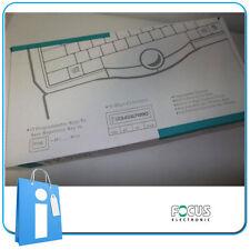 Teclado w Ball Mouse PS2 Blanco - Idioma PORTUGUES mod. Focus FK-9200 keyboard
