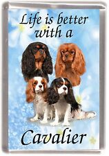 "Cavalier King Charles Dog Fridge Magnet ""Life is better with a .."" by Starprint"
