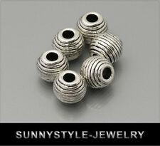 10x tibet argent métal perles spacer 10mm ms359