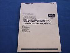 CAT CATERPILLAR H45 H50 H63 H70 H90 H100 HYDRAULIC HAMMERS PARTS BOOK MANUAL