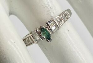 Designer $4000 .75ct Natural AAA+++ Marquis Alexandrite Diamond Platinum Ring 5g