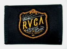 MENS RVCA BLACK TRIFOLD WALLET