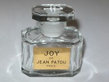 "Vintage Jean Patou Joy Perfume Bottle 1/2 OZ Baccarat - Open - Empty - 2"" Ht,.#3"