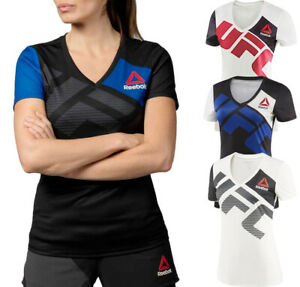 Womens Reebok UFC Official Fighter Kit Jersey MMA Fan Apparel NEW Tags