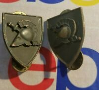 Vintage Insignia Pin DUI USMA West Point Shield Crest Subdued 2PC LOT
