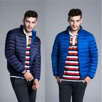 Mens Ultralight Reversible Color Puffer Down Jacket Winter Short Parka Coat V147