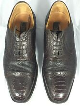 Zelli Rare Genuine Ostrich Leather Men's Oxfords Style#400 Size 8.5 M Italy !