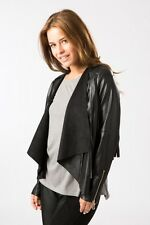 A&G Anita & Green PU Fringe Waterfall Jacket Black Ladies Medium Box14 79 d
