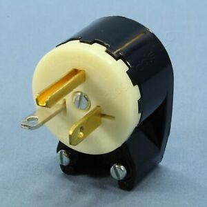 Bryant Black/White INDUSTRIAL Straight Blade ANGLED Plug 5-20P 20A 125V 5395Z