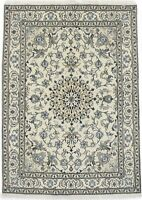 Floral Nain Traditional 5'4X7'9 Hand Knotted Oriental Wool Rug Home Decor Carpet