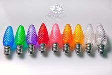 9 Faceted LED Bulb Set For Your Selenite Crystal Lamp Rainbow Color Therapy