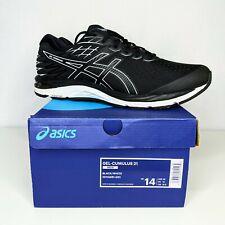 ASICS Gel-Cumulus 21 Black White Running Shoes Men Size 14