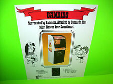 Exidy 1980 BANDIDO Original NOS Vintage Video Arcade Game Promo Sales Flyer #2