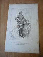 DUC DE CHOISEUL STAINVILLE  MARECHAL DE FRANCE  EN 1783  GRAVURE 19°