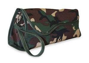 Camo Camouflage Flat Iron Curling Travel Case Pouch Insulated Thermal Bag