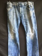 Diesel Zatiny Men's 38 x 32 Blue Medium Wash Denim Bootcut Button Fly Jeans