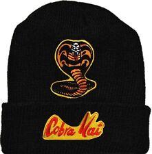 Karate Kid Wool Hat Beanie Knit Cobra Kai Gang Logo Johnny Tournament Miyagi