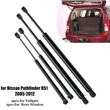 4pcs Rear Window + Tailgate Boot Gas Struts For Nissan Pathfinder R51 2005-2012