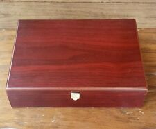 Bentleys Finest Teas Burgundy Wood Storage Box Container 6 Flavor Compartments